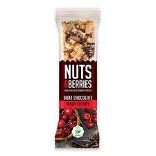 Nuts & Berries Dark Choco Sour Cherry Organic Fruit Bar 40g