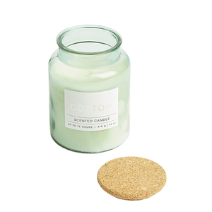 Cotton Filled Candle Green 1pc