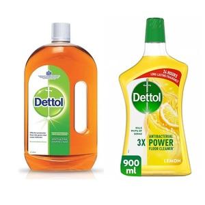 Dettol Antiseptic Liquid With Lemon Multi Purpose Cleaner 2L+900ml
