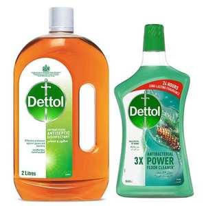Dettol Antiseptic Liquid With Pine Multi Purpose Cleaner 2L+900ml