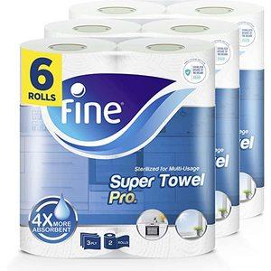 Fine Sterilized Kitchen Paper Towel 6x3ply