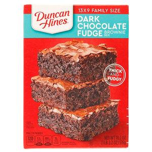 Duncan Hines Dark Chocolate Fudge Brownies Mix 18.2oz