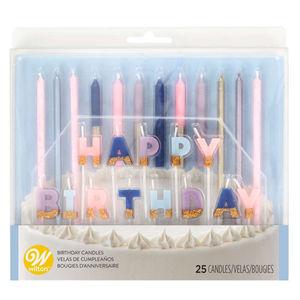 Wilton Floral Party Birthday Candle Set 25pcs