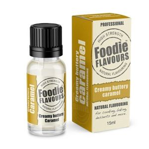 Foodie Flavours Creamy Buttery Caramel Natural Flavouring 15ml 1pc