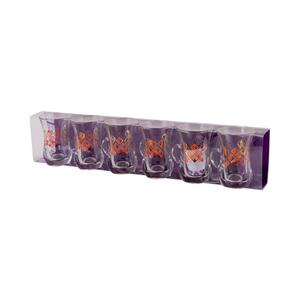 Dimlaj Tea Glass Tumbler Handle Novel Gold 6pcs
