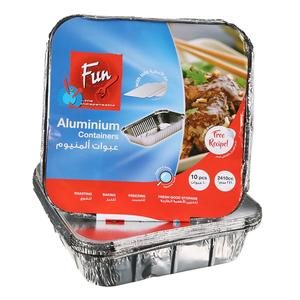 Al Bayader Aluminium Container 2410CC 1pc