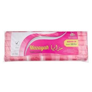 Mazayah Table Cover 100x100cm -120pcs