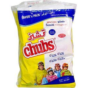 Chubs Family Sensitive Wet Wipes 4x20s