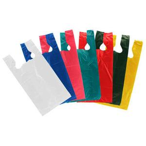 Al Jabri Plastic Factory Plain T Shirt Bag HD 36x44cm - 50pcs