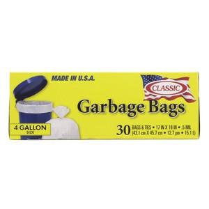 Classic Garbage Bag 4 Gallon - 30pcs