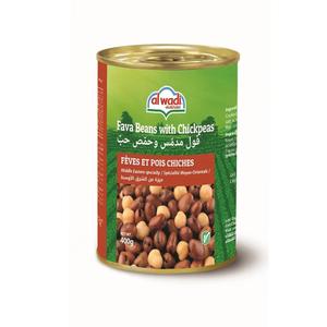Alwadi Fava Beans & Chickpeas 400g