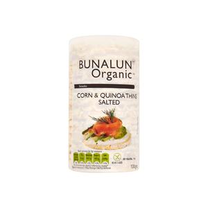 Bunalun Organic Salted Corn & Quinoa Thins 130g