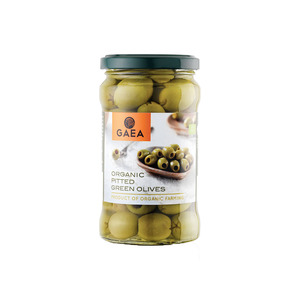 Gaea Organic Pitted Green Olives 290g