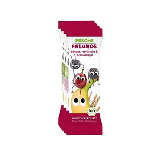 Freche Freunde Bars Banana, Red Grape & Chokeberry 4x23g