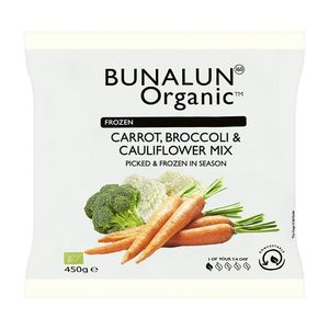 Bunalun Organic Carrot, Broccoli And Cauliflower Mix 450g