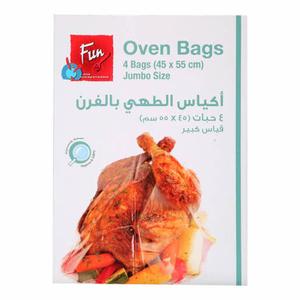 Fun Plastic Oven Bags Tie Wire 45x55cm