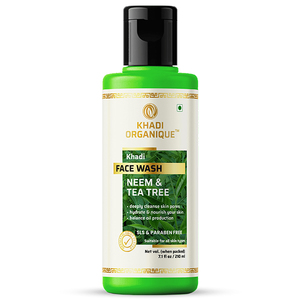Khadi Organique Neem And Tea Tree Face Wash 210ml