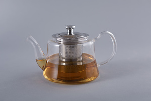 Heat Resistant Glass Teapot with Stainless Steel Handle 800ml 1pc