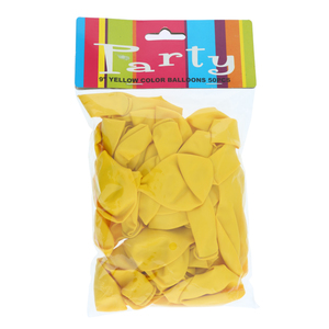 Balloon Assorted Yellow 50pcs pack