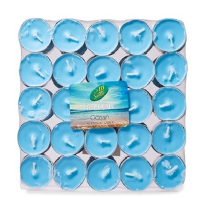 Samar Scented Tea Light Candle Blue Ocean 50pcs pack