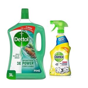 Dettol Pine Antibacterial Power Floor Cleaner 3L+500ml
