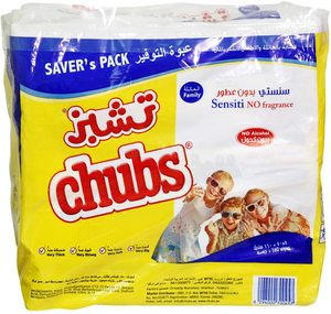 Chubs Senstive Family Wipes Flow Pack 2pack