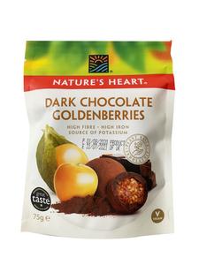 Nature's Heart Dark Chocolate Goldenberries 75g