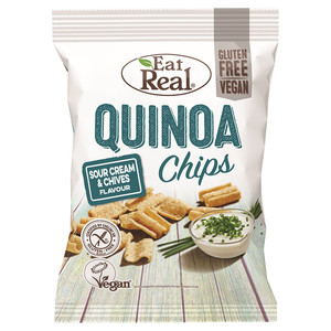 Eat Real Quinoa Sour Cream And Chive 2x80g