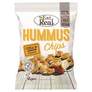 Eat Real Hummuns Chilli And Lemon Chips 2x135g