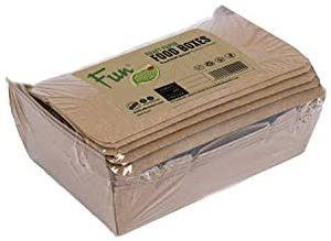 Fun Kraft Eco Paper Snack Boxes Eco 14x9x8cm 1pc