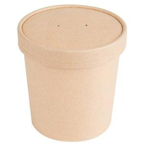 Fun Kraft Eco Paper Multi Purpose Bowls With Lids 16Oz 1pc