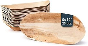Fun Eco Wooden Trays 9in Boat 10s