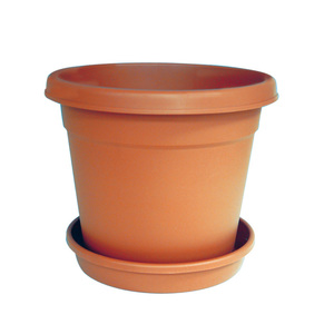 """Cosmoplast Round Flower Pot 14"""" With Tray 1pc"""