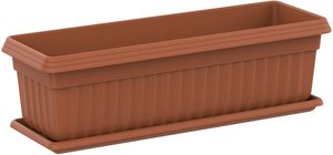 Cosmoplast Exotica Planter With Tray Large 1pc