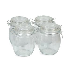 Windcera Glass Jar With Glass Lid 750ml 4pcs