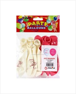 """Alras Balloons Just Married 12"""" 8pcs"""