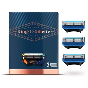 King C. Gillette Men's Refill Shave and Edging Razor Blades With Built In Single Blade Precision Trimmer 3 refill pack