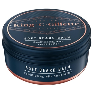 King C. Gillette Men's Soft Beard Balm Deep Conditioning With Cocoa Butter Argan Oil and Shea Butter 100ml