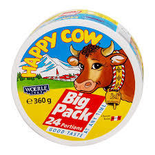 Happy Cow 24 Portions Cheese 2x360g