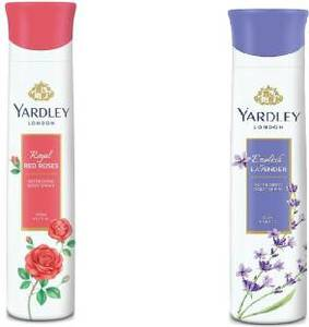 Yardley Lavender + Rose Body Spray 3x150ml