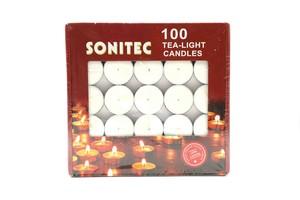 Sonitec White Tea Light Candles 100s