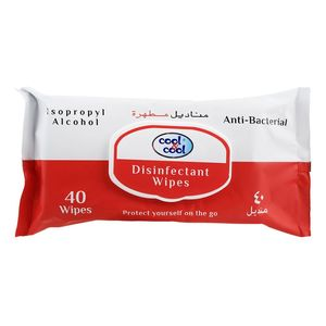 Cool & Cool Disnfectant Wipes 2x40s