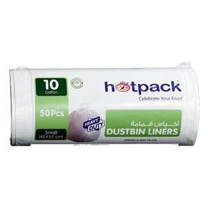 Hotpack Dustbin Liners White Roll 50s
