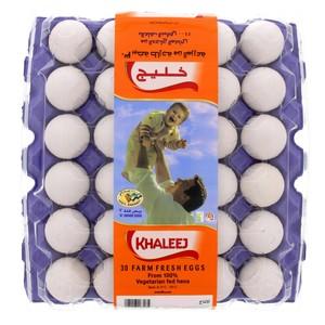 Al Khaleej White Eggs Large 30s