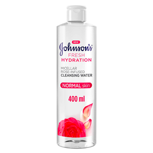 Johnson's Micellar Water Fresh Hydration Rose-Infused Cleansing Water 400ml