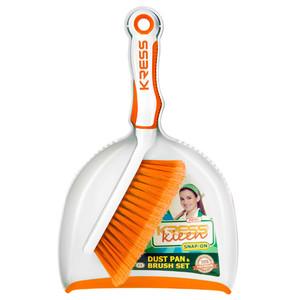 Kress Kleen Snap-On Dust Pan Brush Set 1set