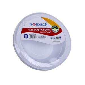 Hotpack Plastic Bowl Round 25pcs