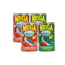 Mega Canned Sardine Assorted 4x155g
