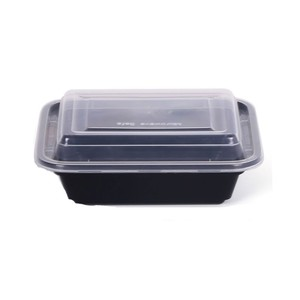 Hotpack Black Container with Lid 5s
