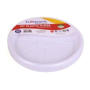 Hotpack Plastic Plate No.10 Round 25pcs